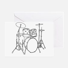 Drumset Greeting Card