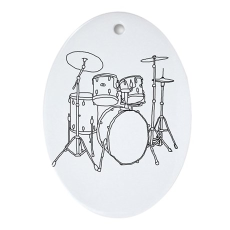 Drumset Oval Ornament