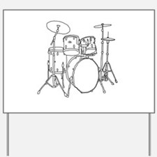 Drumset Yard Sign