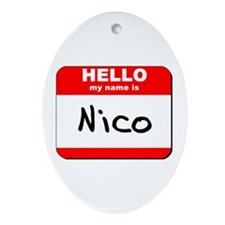 Hello my name is Nico Oval Ornament