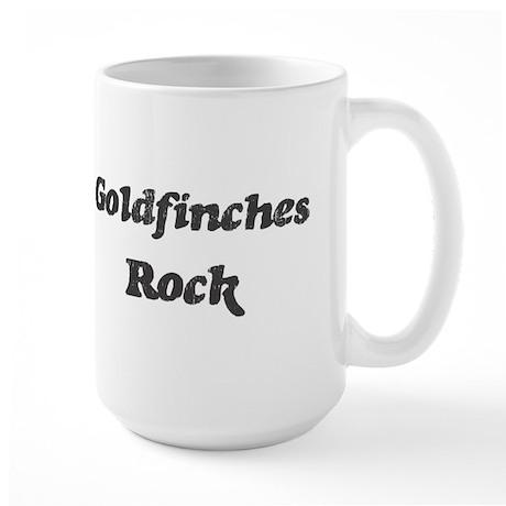 Goldfinchess rock Large Mug