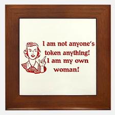 Not Your Token Woman Framed Tile
