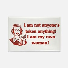 Not Your Token Woman Rectangle Magnet
