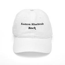 Eastern Bluebirdss rock Baseball Cap