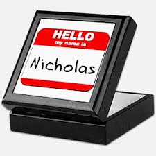 Hello my name is Nicholas Keepsake Box