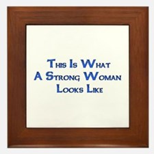 Strong Woman Example Framed Tile