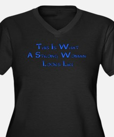 Strong Woman Example Women's Plus Size V-Neck Dark