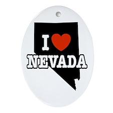 I Love Nevada Keepsake (Oval)