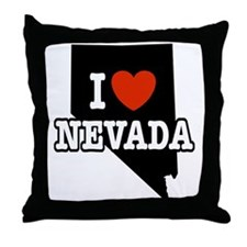 I Love Nevada Throw Pillow