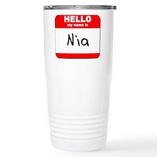Hello my name is Nia Travel Coffee Mug