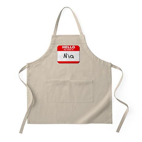 Hello my name is Nia BBQ Apron