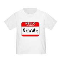 Hello my name is Neville T