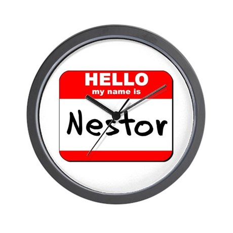 Hello my name is Nestor Wall Clock