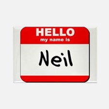 Hello my name is Neil Rectangle Magnet