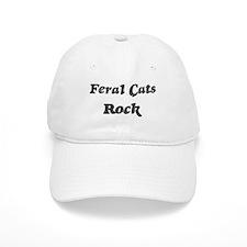 Feral Catss rock Baseball Cap