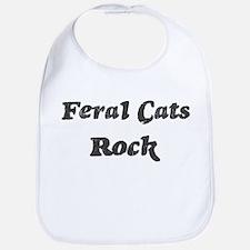 Feral Catss rock Bib