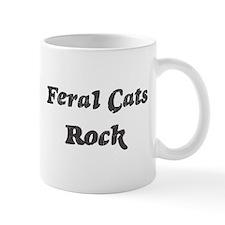 Feral Catss rock Small Mugs