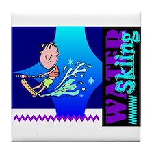 Water Skiing Tile Coaster