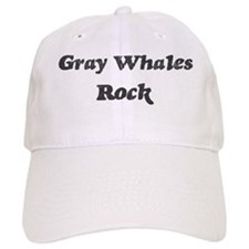 Gray Whaless rock] Baseball Cap