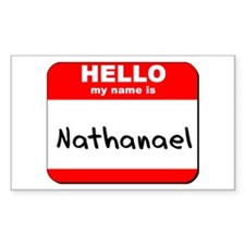 Hello my name is Nathanael Rectangle Decal