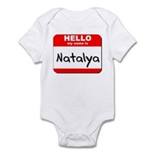 Hello my name is Natalya Infant Bodysuit
