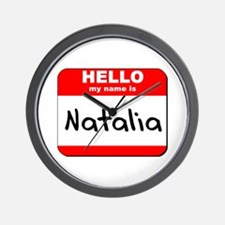 Hello my name is Natalia Wall Clock