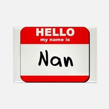 Hello my name is Nan Rectangle Magnet
