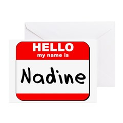 Hello my name is Nadine Greeting Cards (Pk of 20)