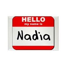 Hello my name is Nadia Rectangle Magnet