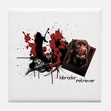 Chocolate Labrador Tile Coaster