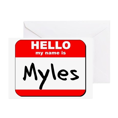 Hello my name is Myles Greeting Cards (Pk of 20)