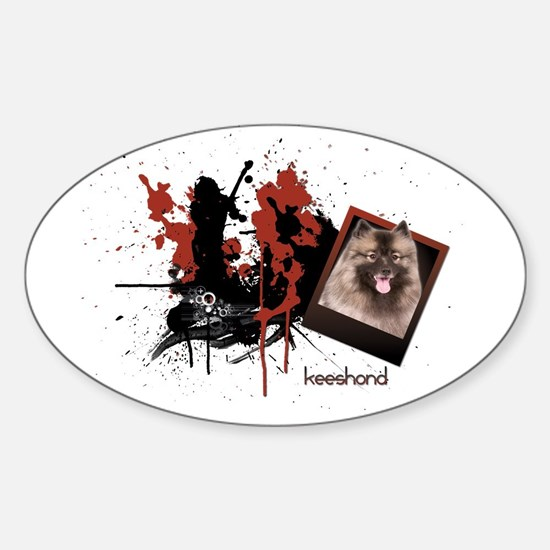 Keeshond Oval Decal
