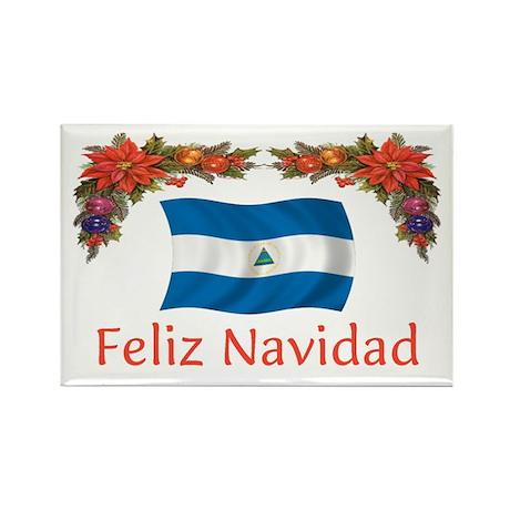 Nicaragua Feliz Navidad 2 Rectangle Magnet (10 pac