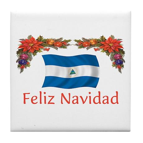 Nicaragua Feliz Navidad 2 Tile Coaster