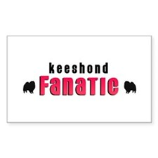 Keeshond Fanatic Rectangle Decal