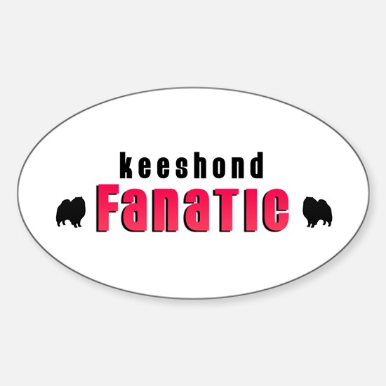 Keeshond Fanatic Oval Decal
