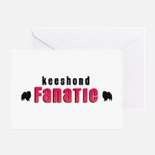 Keeshond Fanatic Greeting Card