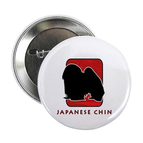 "Japanese Chin 2.25"" Button"