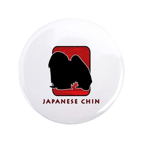 "Japanese Chin 3.5"" Button"