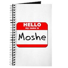 Hello my name is Moshe Journal