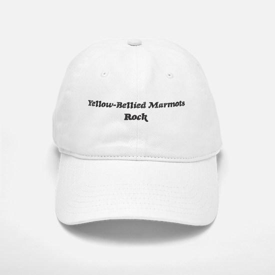 Yellow-Bellied Marmotss rock Baseball Baseball Cap