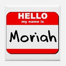 Hello my name is Moriah Tile Coaster