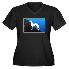 Greyhound Women's Plus Size V-Neck Dark T-Shirt