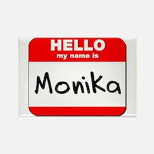 Hello my name is Monika Rectangle Magnet