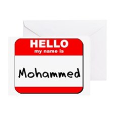 Hello my name is Mohammed Greeting Card