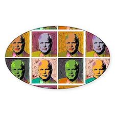 McCain Mao Oval Sticker (10 pk)