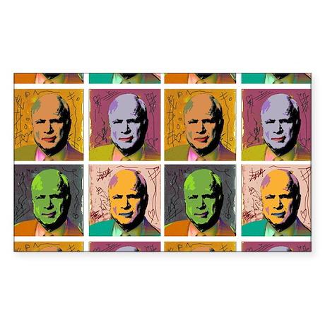 McCain Mao Rectangle Sticker