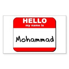 Hello my name is Mohammad Rectangle Decal