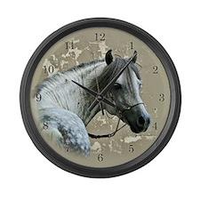 Caspain Horse Large Wall Clock