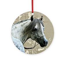 Caspain Horse Ornament (Round)
